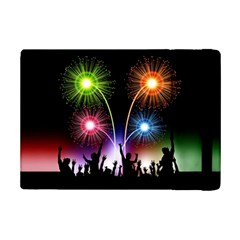 Happy New Year 2017 Celebration Animated 3d Ipad Mini 2 Flip Cases by Onesevenart