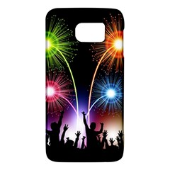 Happy New Year 2017 Celebration Animated 3d Galaxy S6 by Onesevenart