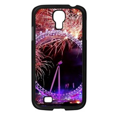 Happy New Year Clock Time Fireworks Pictures Samsung Galaxy S4 I9500/ I9505 Case (black) by Onesevenart