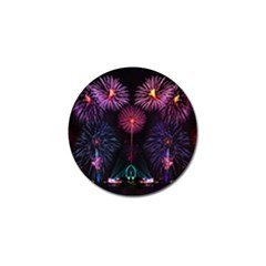 Happy New Year New Years Eve Fireworks In Australia Golf Ball Marker (10 Pack) by Onesevenart