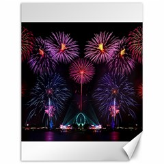 Happy New Year New Years Eve Fireworks In Australia Canvas 12  X 16   by Onesevenart