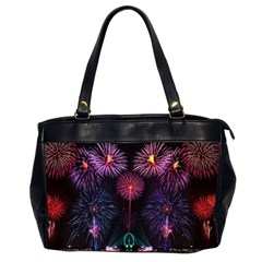 Happy New Year New Years Eve Fireworks In Australia Office Handbags (2 Sides)  by Onesevenart
