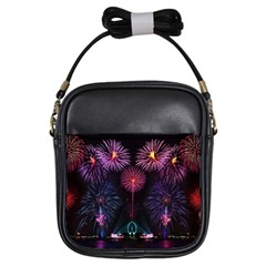 Happy New Year New Years Eve Fireworks In Australia Girls Sling Bags by Onesevenart