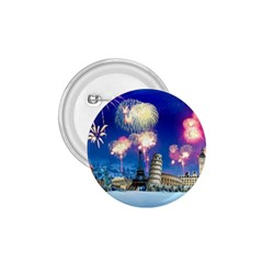 Happy New Year Celebration Of The New Year Landmarks Of The Most Famous Cities Around The World Fire 1 75  Buttons by Onesevenart