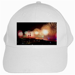 Kuwait Liberation Day National Day Fireworks White Cap by Onesevenart