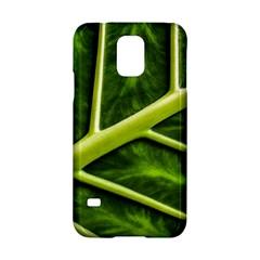 Leaf Dark Green Samsung Galaxy S5 Hardshell Case  by Onesevenart