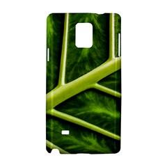Leaf Dark Green Samsung Galaxy Note 4 Hardshell Case by Onesevenart
