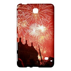 London Celebration New Years Eve Big Ben Clock Fireworks Samsung Galaxy Tab 4 (7 ) Hardshell Case  by Onesevenart