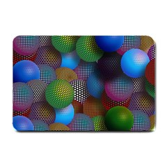 Multicolored Patterned Spheres 3d Small Doormat  by Onesevenart