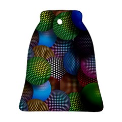 Multicolored Patterned Spheres 3d Ornament (bell) by Onesevenart