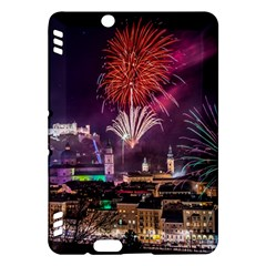 New Year New Year's Eve In Salzburg Austria Holiday Celebration Fireworks Kindle Fire Hdx Hardshell Case by Onesevenart