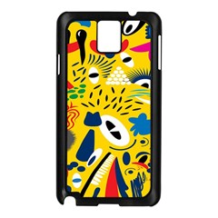 Yellow Eye Animals Cat Samsung Galaxy Note 3 N9005 Case (black) by AnjaniArt