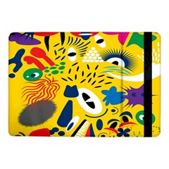 Yellow Eye Animals Cat Samsung Galaxy Tab Pro 10 1  Flip Case by AnjaniArt