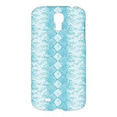 Snake Skin Blue Chevron Wave Samsung Galaxy S4 I9500/i9505 Hardshell Case by AnjaniArt