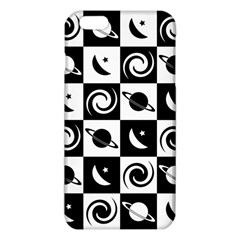 Space Month Saturnus Planet Star Hole Black White Iphone 6 Plus/6s Plus Tpu Case by AnjaniArt