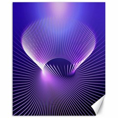 Space Galaxy Purple Blue Line Canvas 16  X 20   by AnjaniArt