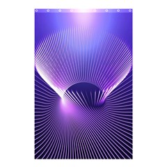 Space Galaxy Purple Blue Line Shower Curtain 48  X 72  (small)  by AnjaniArt