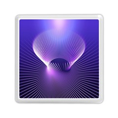 Space Galaxy Purple Blue Line Memory Card Reader (square)  by AnjaniArt