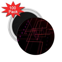 Space Path Line 2 25  Magnets (100 Pack)  by AnjaniArt