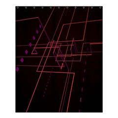 Space Path Line Shower Curtain 60  X 72  (medium)  by AnjaniArt
