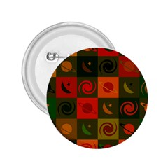 Space Month Saturnus Planet Star Hole Black White Multicolour Orange 2 25  Buttons by AnjaniArt