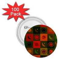 Space Month Saturnus Planet Star Hole Black White Multicolour Orange 1 75  Buttons (100 Pack)  by AnjaniArt