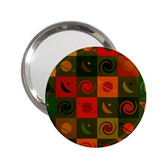 Space Month Saturnus Planet Star Hole Black White Multicolour Orange 2 25  Handbag Mirrors by AnjaniArt