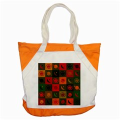 Space Month Saturnus Planet Star Hole Black White Multicolour Orange Accent Tote Bag by AnjaniArt
