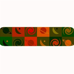 Space Month Saturnus Planet Star Hole Black White Multicolour Orange Large Bar Mats by AnjaniArt