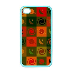 Space Month Saturnus Planet Star Hole Black White Multicolour Orange Apple Iphone 4 Case (color) by AnjaniArt