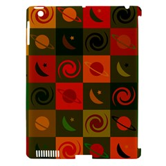 Space Month Saturnus Planet Star Hole Black White Multicolour Orange Apple Ipad 3/4 Hardshell Case (compatible With Smart Cover) by AnjaniArt