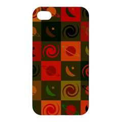 Space Month Saturnus Planet Star Hole Black White Multicolour Orange Apple Iphone 4/4s Premium Hardshell Case by AnjaniArt