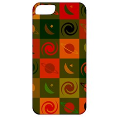 Space Month Saturnus Planet Star Hole Black White Multicolour Orange Apple Iphone 5 Classic Hardshell Case by AnjaniArt