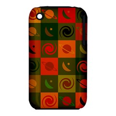 Space Month Saturnus Planet Star Hole Black White Multicolour Orange Iphone 3s/3gs by AnjaniArt