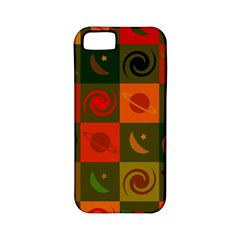 Space Month Saturnus Planet Star Hole Black White Multicolour Orange Apple Iphone 5 Classic Hardshell Case (pc+silicone) by AnjaniArt