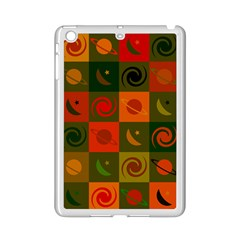 Space Month Saturnus Planet Star Hole Black White Multicolour Orange Ipad Mini 2 Enamel Coated Cases by AnjaniArt