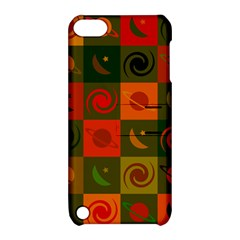 Space Month Saturnus Planet Star Hole Black White Multicolour Orange Apple Ipod Touch 5 Hardshell Case With Stand by AnjaniArt