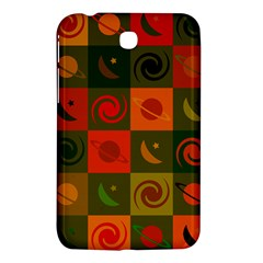 Space Month Saturnus Planet Star Hole Black White Multicolour Orange Samsung Galaxy Tab 3 (7 ) P3200 Hardshell Case  by AnjaniArt