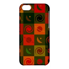 Space Month Saturnus Planet Star Hole Black White Multicolour Orange Apple Iphone 5c Hardshell Case by AnjaniArt