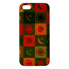 Space Month Saturnus Planet Star Hole Black White Multicolour Orange Iphone 5s/ Se Premium Hardshell Case by AnjaniArt