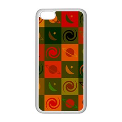 Space Month Saturnus Planet Star Hole Black White Multicolour Orange Apple Iphone 5c Seamless Case (white) by AnjaniArt
