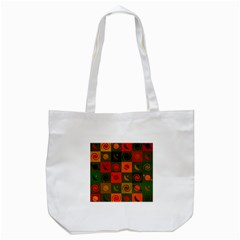 Space Month Saturnus Planet Star Hole Black White Multicolour Orange Tote Bag (white) by AnjaniArt