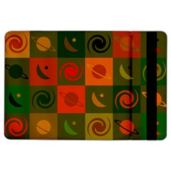 Space Month Saturnus Planet Star Hole Black White Multicolour Orange Ipad Air 2 Flip by AnjaniArt