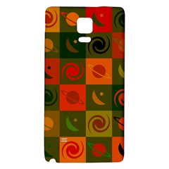 Space Month Saturnus Planet Star Hole Black White Multicolour Orange Galaxy Note 4 Back Case by AnjaniArt