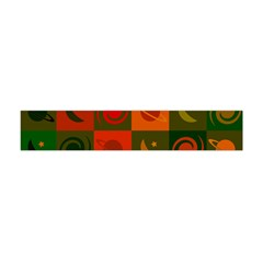 Space Month Saturnus Planet Star Hole Black White Multicolour Orange Flano Scarf (Mini) by AnjaniArt