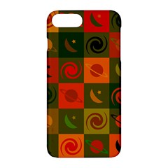 Space Month Saturnus Planet Star Hole Black White Multicolour Orange Apple Iphone 7 Plus Hardshell Case by AnjaniArt