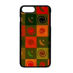 Space Month Saturnus Planet Star Hole Black White Multicolour Orange Apple Iphone 7 Plus Seamless Case (black) by AnjaniArt