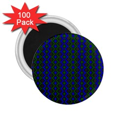 Split Diamond Blue Green Woven Fabric 2 25  Magnets (100 Pack)  by AnjaniArt