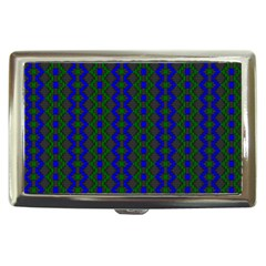 Split Diamond Blue Green Woven Fabric Cigarette Money Cases by AnjaniArt