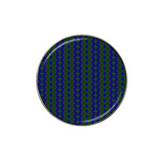 Split Diamond Blue Green Woven Fabric Hat Clip Ball Marker (10 Pack) by AnjaniArt